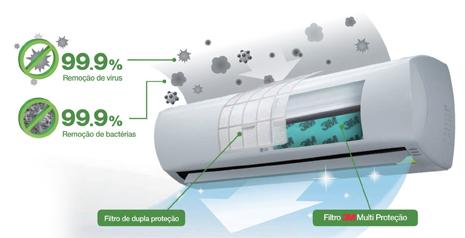 Ar Condicionado Split Hi Wall Inverter Libero E+ LG 11.500 BTUs Quente/Frio 220V - US-W092WSZ2