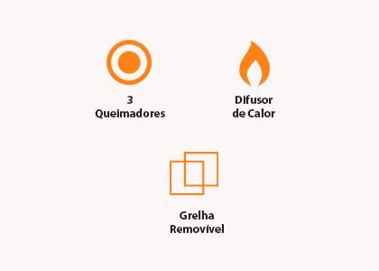 Churrasqueira Cadence Barbecue a Gás BBQ300