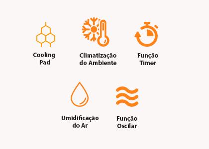 Climatizador de Ar Cadence Breeze 301 Frio 127V - CLI301