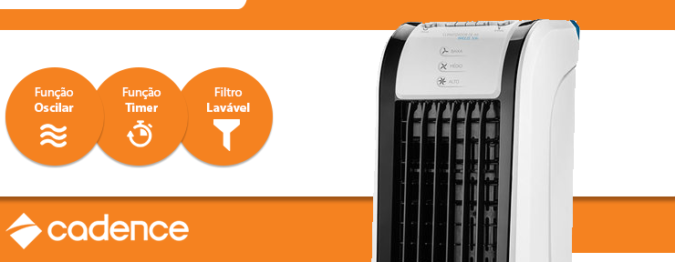 Climatizador de Ar Cadence Breeze 506 Frio 127V - CLI506