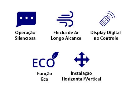 Ar Condicionado Carrier Space Piso/Teto 58.000 Btus Quente/Frio 380V Trifásico - 38CQM060235MC
