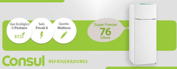 Refrigerador Duplex Consul Cycle Defrost 334L 220V - CRD37EBBNA