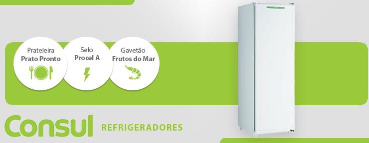 Freezer Consul Vertical Degelo Manual 121 Litros Branco 1 Porta 127V - CVU18GBANA