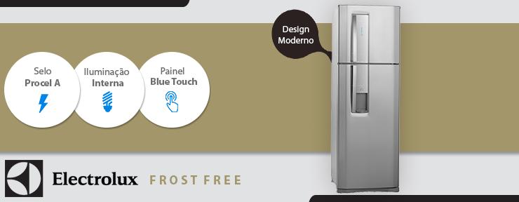Refrigerador Inox Electrolux Frost Free Duas Portas 380 Litros 220V - DW42X