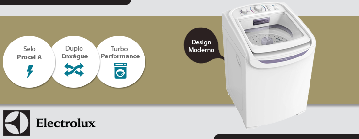 Lavadora de Roupas Automática Electrolux Turbo 15KG Branca 127V LTD15