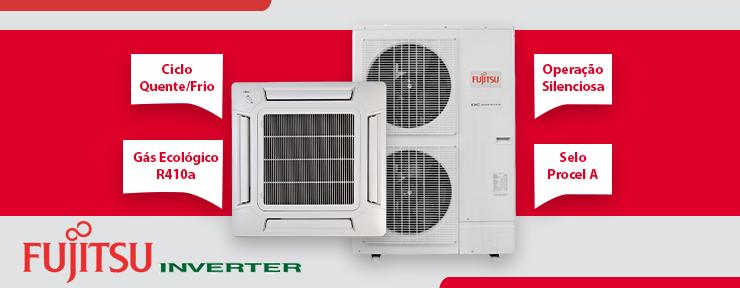 Ar Condicionado Fujitsu Cassete Inverter 42.000 Btus 220V Quente/Frio - AUBG45LRLA