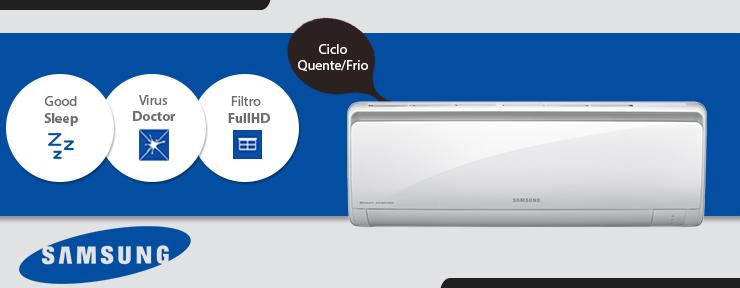 Ar Condicionado Samsung Smart Inverter 12.000 BTUs Quente/Frio 220V - AQV12PSBT