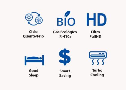 Ar Condicionado Samsung Smart Inverter 12.000 BTUs Quente/Frio 220V - AQV24PSBT