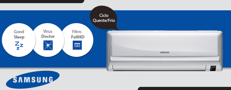 Ar Condicionado Samsung Split Max Plus 9.000 BTUs Quente/Frio 220V - AR09HPSUAWQXAZ