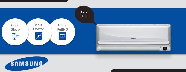 Ar Condicionado Samsung Split Max Plus 9.000 BTUs Frio 220V - AR09HCSUBWQXAZ