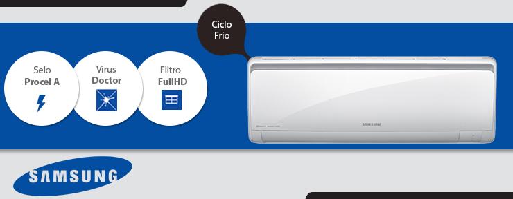 Ar Condicionado Samsung Smart Inverter 24.000 BTUs Frio 220V